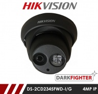 Hikvision Darkfighter DS-2CD2345FWD-I/B 2.8MM 4MP Network IP CCTV Dome Camera 30m IR 2.8mm Fixed Lens - Black