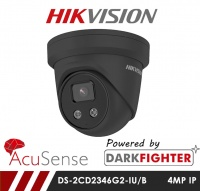 Hikvision Darkfighter AcuSense DS-2CD2346G2-IU/B 4MP Network IP CCTV Dome Camera with Built in Mic 30m IR 2.8mm Fixed Lens
