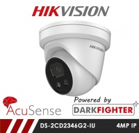 Hikvision Darkfighter AcuSense DS-2CD2346G2-IU 4MP Network IP CCTV Dome Camera with Built in Mic 30m IR 2.8mm Fixed Lens
