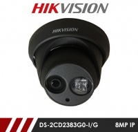 Hikvision DS-2CD2383G0-I/G 8MP Network IP CCTV Dome Camera 30m IR 2.8mm Fixed Lens - Grey