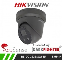 Hikvision DS-2CD2386G2-IU 8MP 8MP AcuSense Darkfighter Turret IP Camera 2.8mm Fixed Lens 30m IR & Microphone in Grey