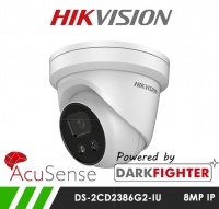 Hikvision DS-2CD2386G2-IU 8MP 8MP AcuSense Darkfighter Turret IP Camera 2.8mm Fixed Lens 30m IR & Microphone
