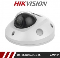 Hikvision DS-2CD2563G0-IS 6MP Network IP CCTV Dome Camera 10m IR and built in Microphone 2.8mm Fixed Lens
