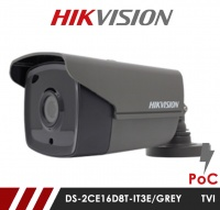 Hikvision 2MP DS-2CE16D8T-IT3E-GREY 3.6mm Fixed lens PoC HD-TVI CCTV Bullet Camera - Grey