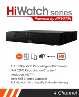 HiWatch DVR-204Q-F1 4 channel DVR by Hikvision - 3MP max